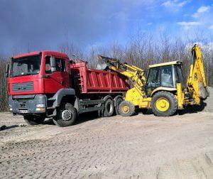 Transport ziemi transport piachu